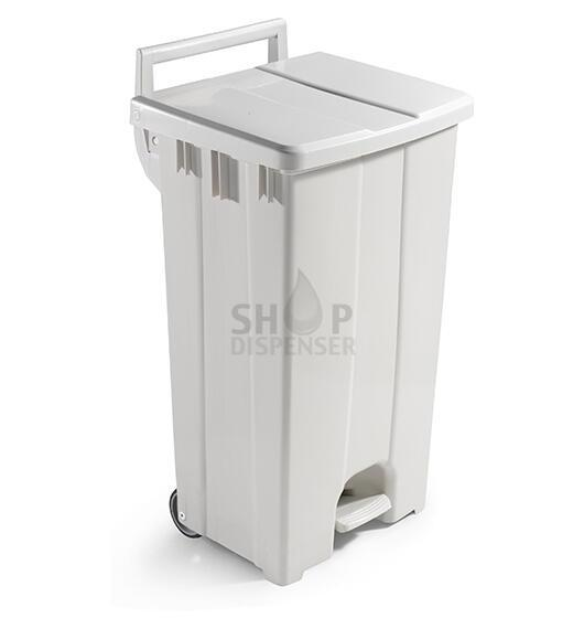 90 LT BIN WITH WHITE LID