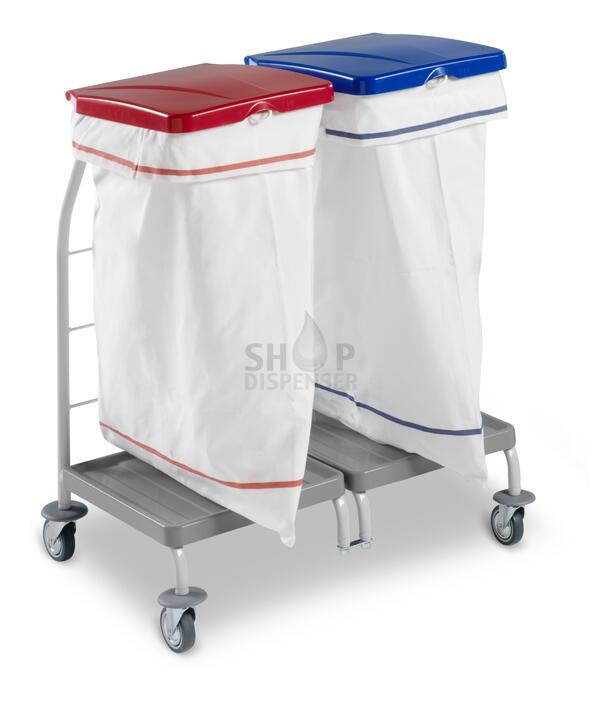 DOUBLE LINEN TROLLEY DUST WITH RED AND BLUE COVER