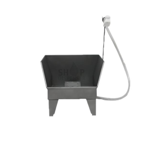 KNEE-OPERATED HOT AND COLD-WATER WALL MOUNTED WASHBASIN