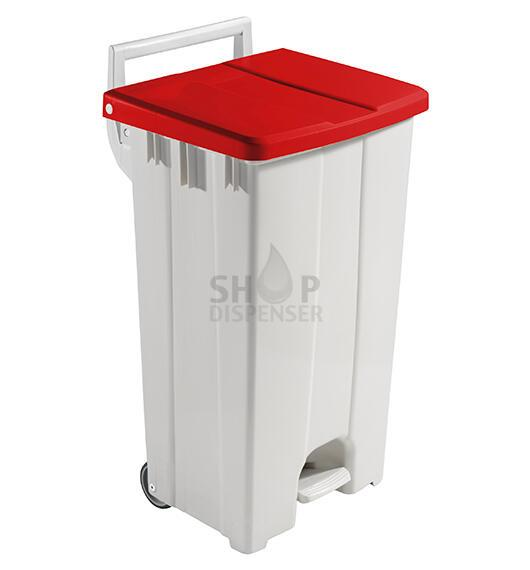 90 LT BIN WITH RED LID