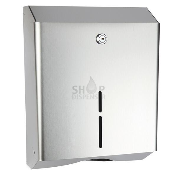 SATIN FINISHED STAINLESS STEEL TOWEL PAPER DISPENSER