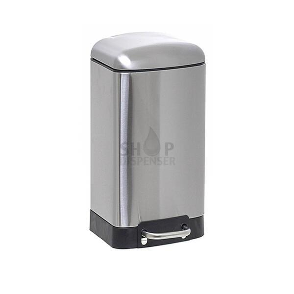 BALDE INOX SOFT CLOSE SQUARE 30 LITROS