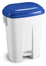 DERBY - 60 LT BIN WITH PEDAL AND BLUE LID
