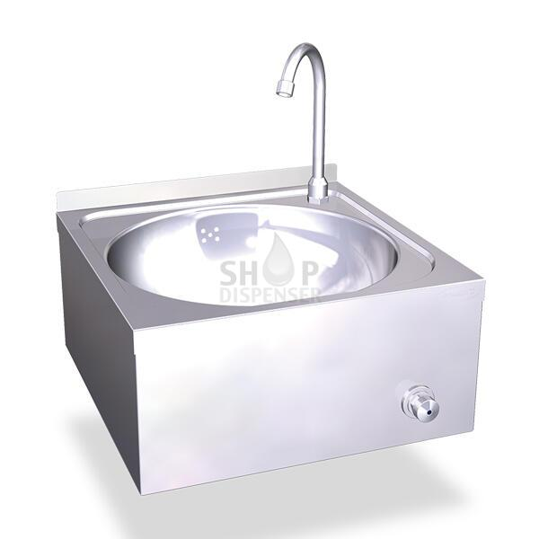 KNEE-OPERATED HOT AND COLD-WATER WALL MOUNTED WASHBASINS