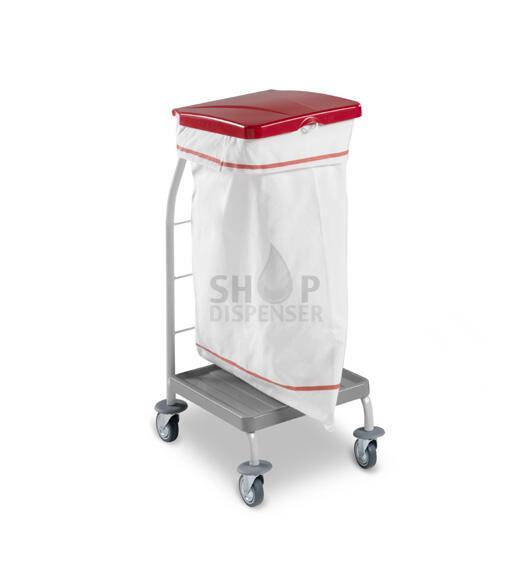 SINGLE LINEN TROLLEY DUST WITH RED COVER IN RILSAN