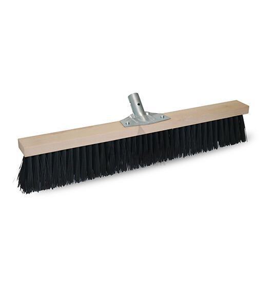 PVC BROOM CM 60-BOARD IN NATURAL WOOD&PVC BRISTLES