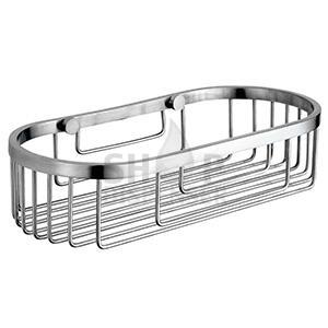 SATIN FINISHED STAINLESS STEEL SOAP BASKET