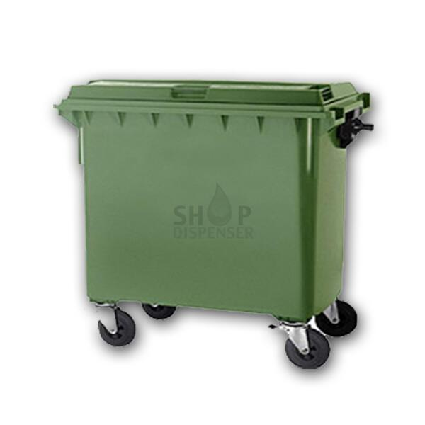 CONTAINER 800LT C / COVER AND WHEELS