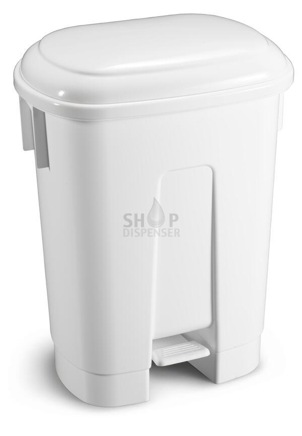 DERBY - 60 LT BIN WITH PEDAL AND WHITE LID